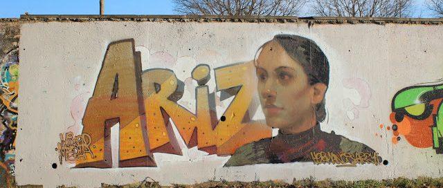 Ariz haciendo graffiti