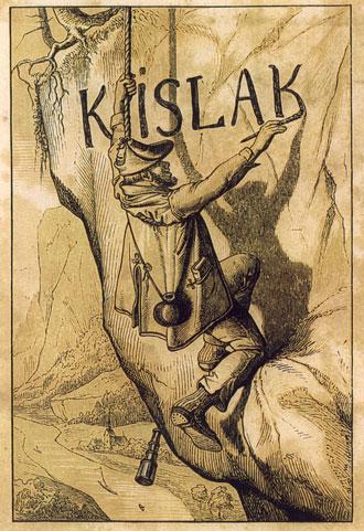 Ilustración de 1847 que representa al famoso Joseph Kyselak.