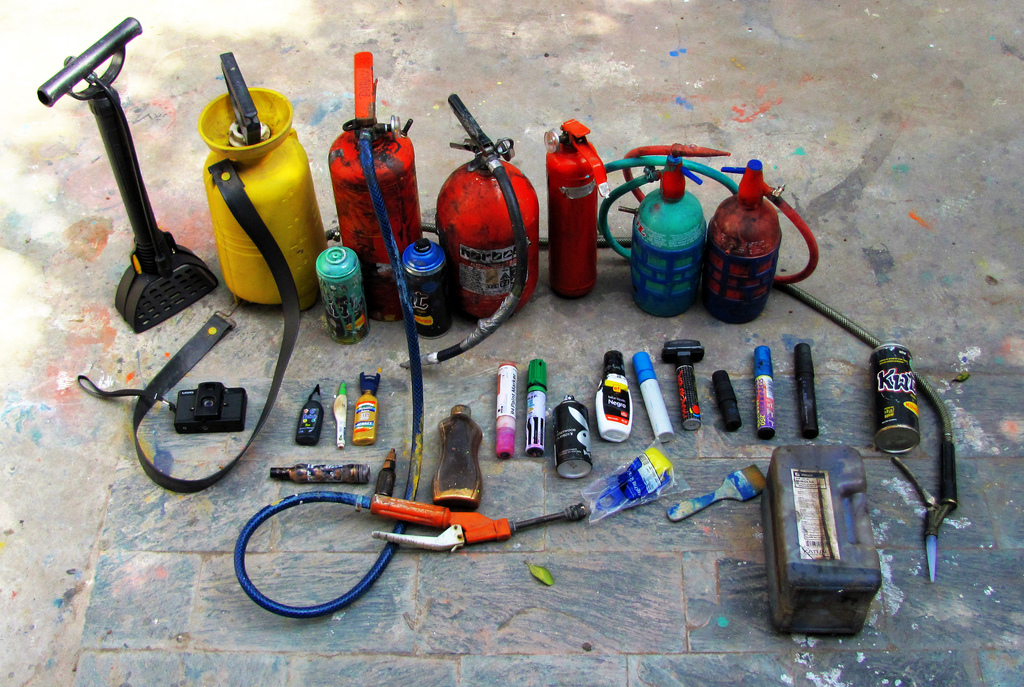 Extinguishers & other tools