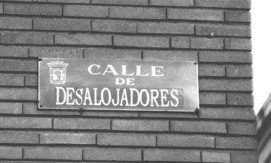Obra del colectivo La Fiambrera en Lavapiés, Madrid.