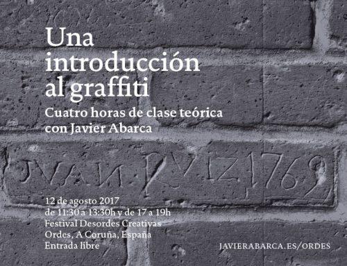 """""""Una introducción al graffiti"""": seminario con Javier Abarca en Ordes, A Coruña"""