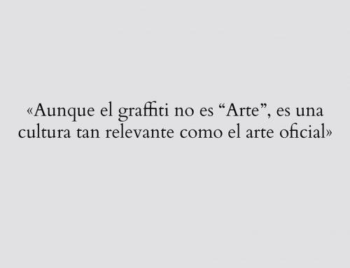 «El graffiti no es 'Arte'»: nuevo artículo de Javier Abarca